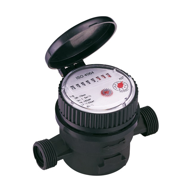 Single jet dry type water meter (Composite plastic version)