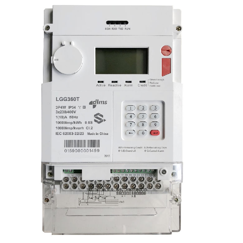 Three Phase Prepaid Energy Meter 0.5s