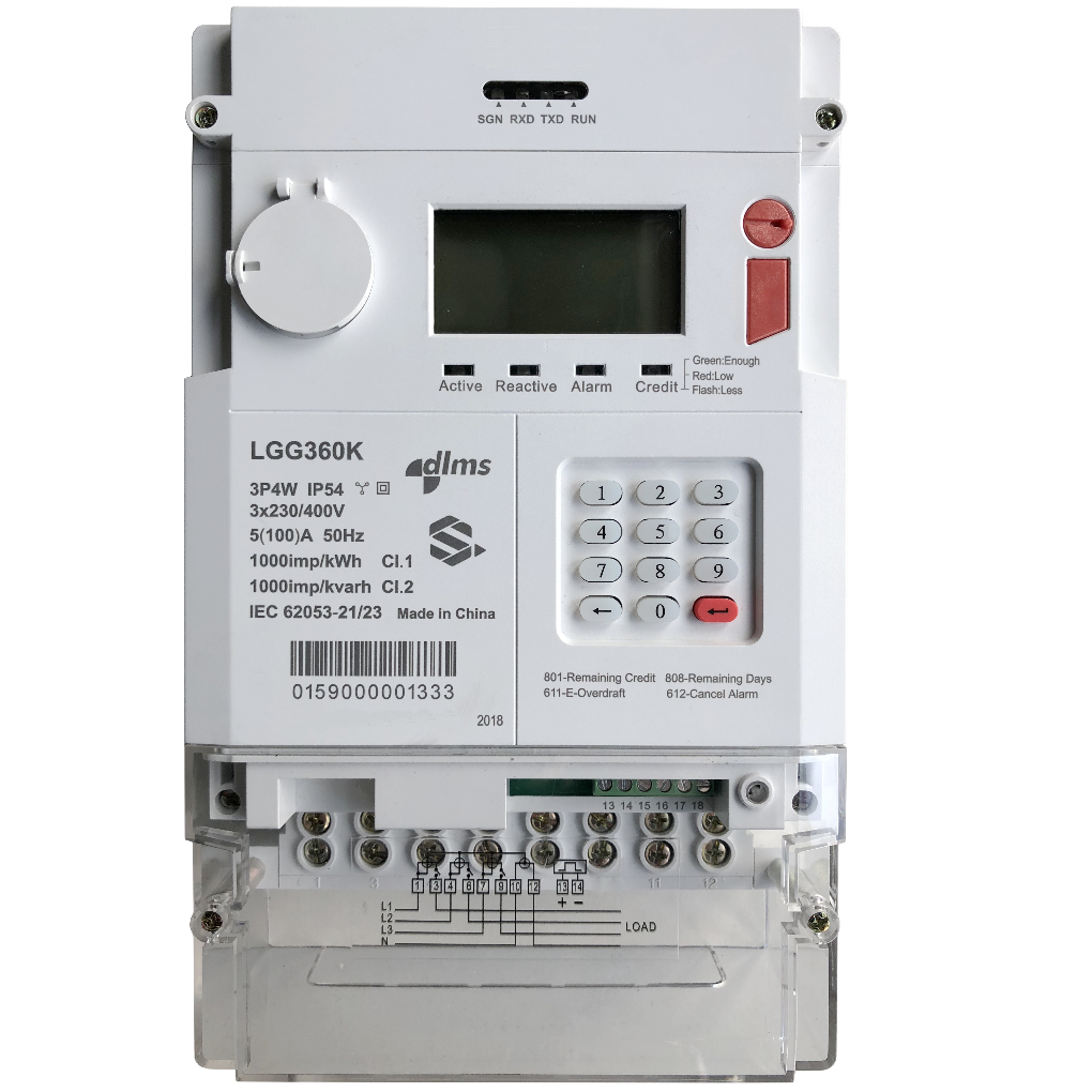 Three Phase STS Prepaid Energy Meter 0.5s