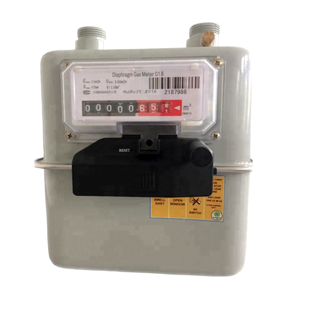 Classic domestic diaphragm natural gas meter (Light wireless version)