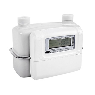 Ultrasonic domestic gas meter with AMR & IC card prepaid